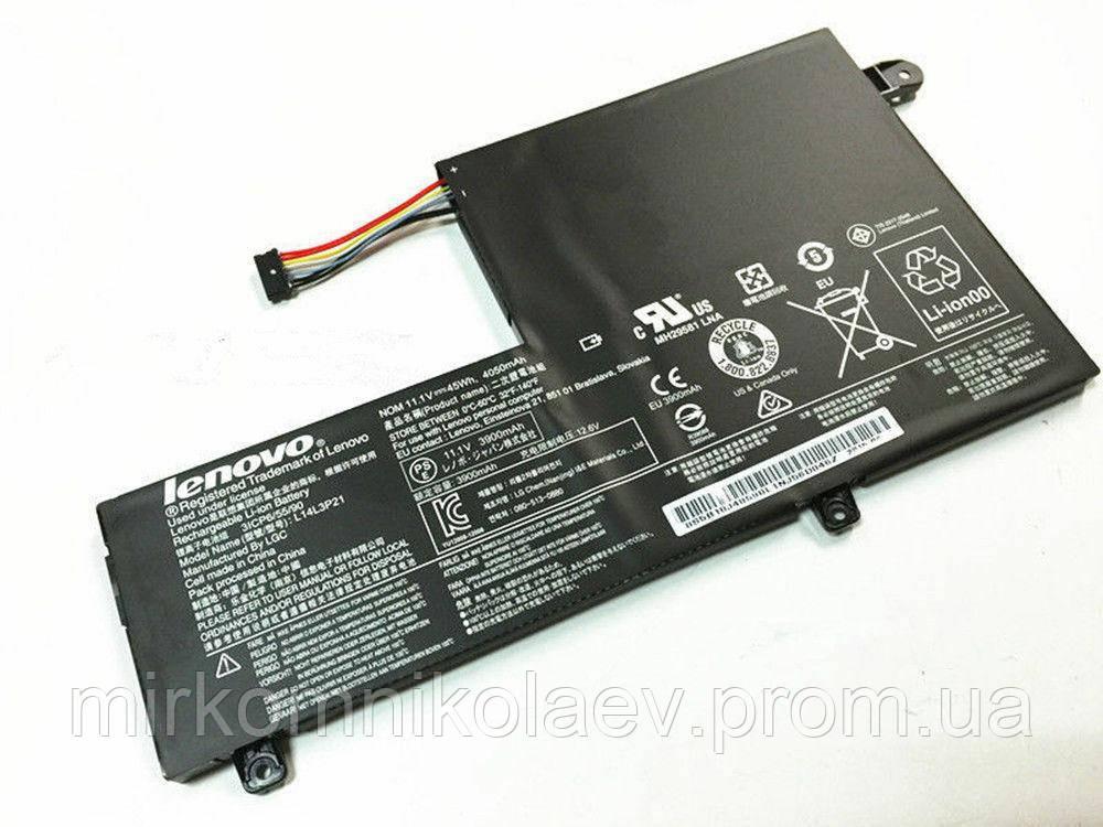 Оригинальная батарея L14M3P21 для ноутбука Lenovo Flex 3-1470 3-1580  4050mAh