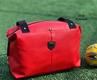 Спортивная сумка кожзам 3636 красный