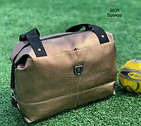 Спортивная сумка кожзам 3636 бронза
