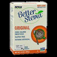Низкокалорийный заменитель сахара NOW Better Stevia 100 packets (100 г)