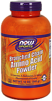BCAA аминокислоты NOW Branched Chain Amino Acid Powder (340 г)