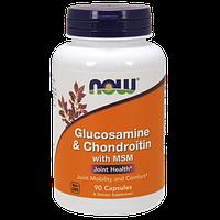 Препарат для восстановления суставов и связок NOW Glucosamine & Chondroitin with MSM (90 капс)