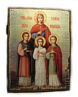 Икона Вера Надежда Любовь и мать их София  (73*56*16 мм.)