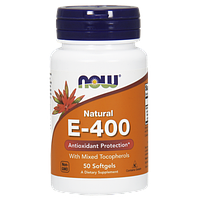 Витаминно-минеральный комплекс NOW Natural E-400 (50 порций) (50 капс)