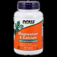Витаминно-минеральный комплекс NOW Magnesium & Calcium (100 таб)
