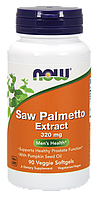 Препарат для мужского здоровья NOW Saw Palmetto (320 мг) (90 капс)
