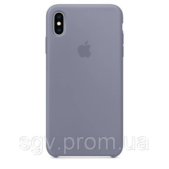 Силиконовый чехол для iPhone X/XS, цвет «темная лаванда»