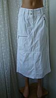 Юбка женская хлопок лето белая макси бренд Cecil р.44-46, фото 1
