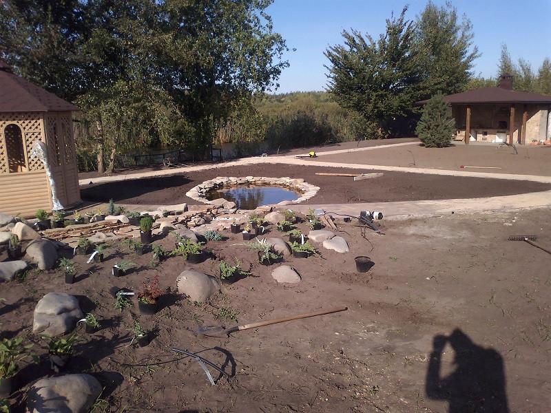 Газон+Озеро+Висадка рослин+Автоматичний полив с.Вишеньки -1