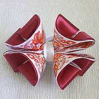 Резинка для волос Канзаши Бант Арнамент