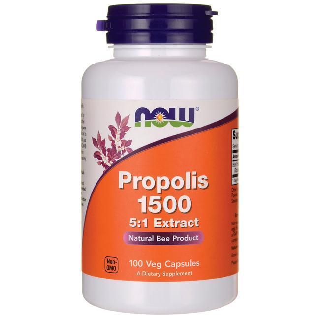 Энергетические и специальные препараты NOW Foods Propolis 1500 (5:1 Extract) (100 капс)