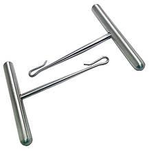 Ручки к пилам проволочным  витым  хирургическим 2шт. Длина 65 мм. Ширина 60 мм