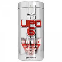 Жиросжигатель Nutrex Lipo 6 Unlimited (120 капс)