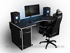 Геймерский эргономичный стол Viking-II, черный/белый