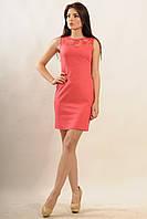 """Универсальное модное нежное платье кораллового цвета """"Кашибо"""" размеры 42,48,50."""