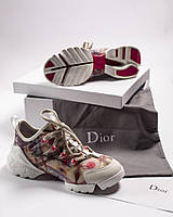 Кроссовки Dior D connect Sneakers Flowers with white Цветы с белым, фото 1