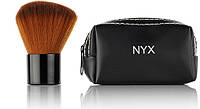 Кисть для нанесения пудры натуральная NYX в кошелечке