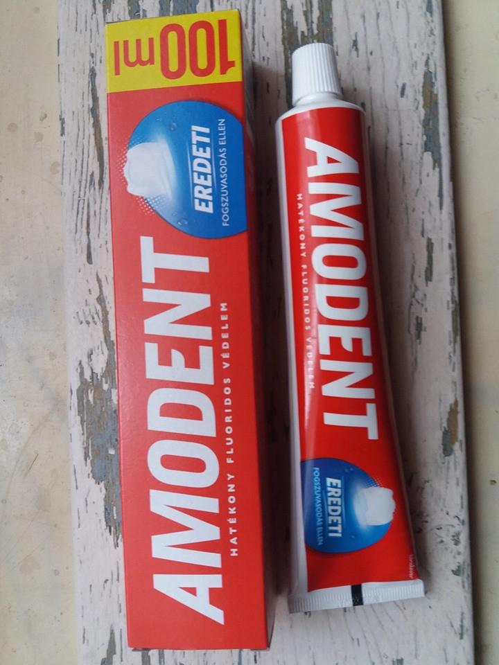 Зубная паста *Amodent* Оригинал с использованием технологии подавления кариеса 100мл Венгрия