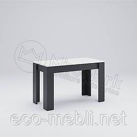 Стіл столовий 1200х650 у вітальню Терра Білий Глянець - Чорний Мат Міромарк
