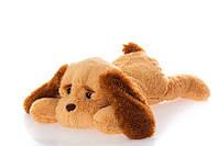 Плюшевая собака Тузик 50 см медовый