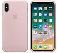 Силиконовый чехол «iPhone X/XS» «Original Case» Чехол на айфон розовый песок/ Накладка Case Pink Sand