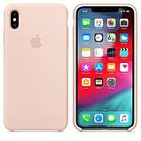 Силиконовый чехол для iPhone X/XS, цвет «розовый песок», фото 2