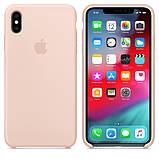 Силиконовый чехол для iPhone X/XS, цвет «розовый песок», фото 3