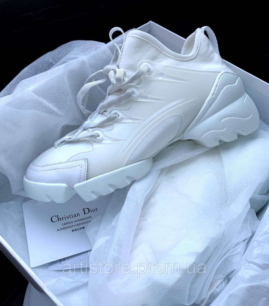 Кроссовки Dior D connect Sneakers Full white Полностью белые