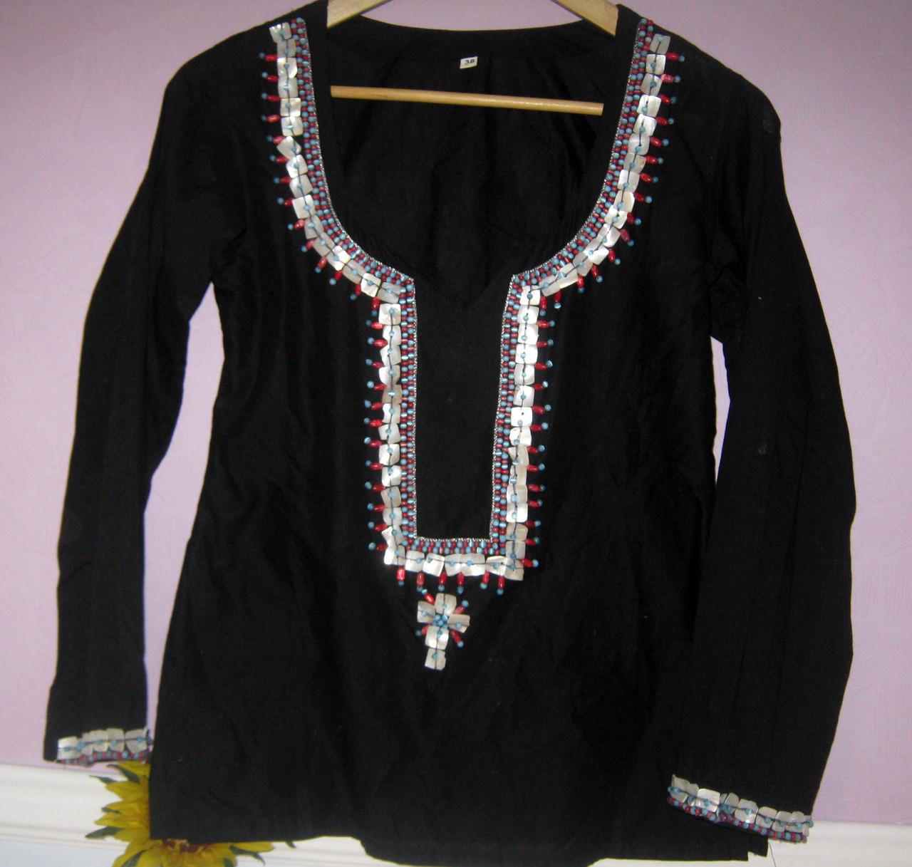 Женская блуза, натуральный хлопок, Индия
