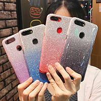 Силиконовый чехол с блестками - градиент для Xiaomi Mi 9 (выбор цвета)