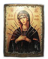 Икона Семистрельная Пресвятая Богородица (73*56*16 мм.)