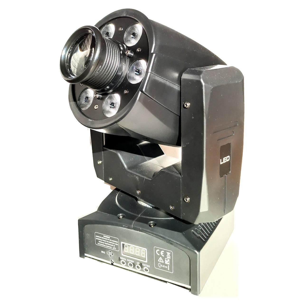 Световая голова Moving head SPOT GOBO 30w + WASH 6x8w RGBW