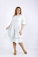 01176-3 | Легкое летнее платье шалфей большой размер
