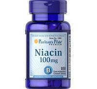 Витаминно-минеральный комплекс Puritan's Pride Niacin 100 мг (100 таб)