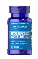 Препарат для восстановления суставов и связокPuritan's Pride Hyaluronic Acid 100 мг (30 капс)