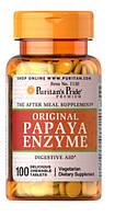 Препарат улучшении пищеварения Puritan's Pride Papaya Enzyme (100 табл)