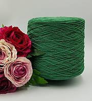 Итальянская пряжа LIFE от  Loro Piana ( хлопок 100%, 420 м/100 зеленый)