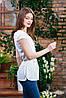 Летняя блуза молочного цвета, Бл- 5942, фото 2