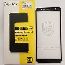 Защитное стекло Samsung J4 2018 Black 4D Ipaky