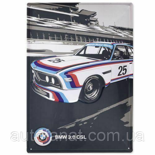 Оригінальна металева пластина BMW Motorsport Heritage Metal Sign (80232445949)