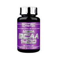 BCAA аминокислоты Scitec Nutrition Mega BCAA 1400 (120 капс)