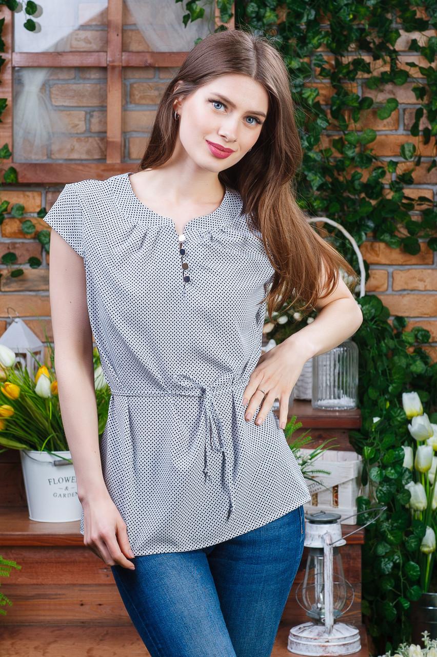 Летняя блуза на пуговицах , Бл- 5980