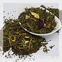 Чай зеленый Ананас с земляникой 100 грамм