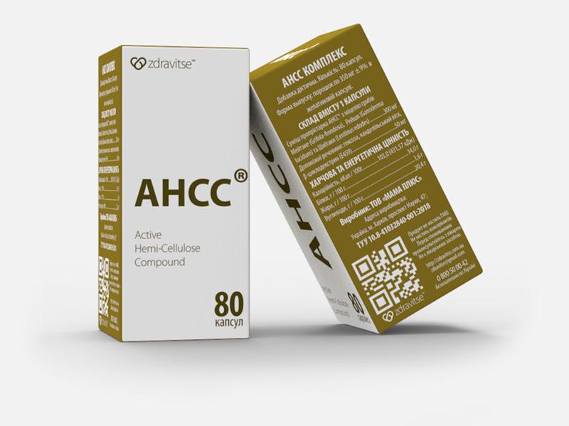 AHCC комплекс, Zdravitse, AHCC complex, 80 капсул