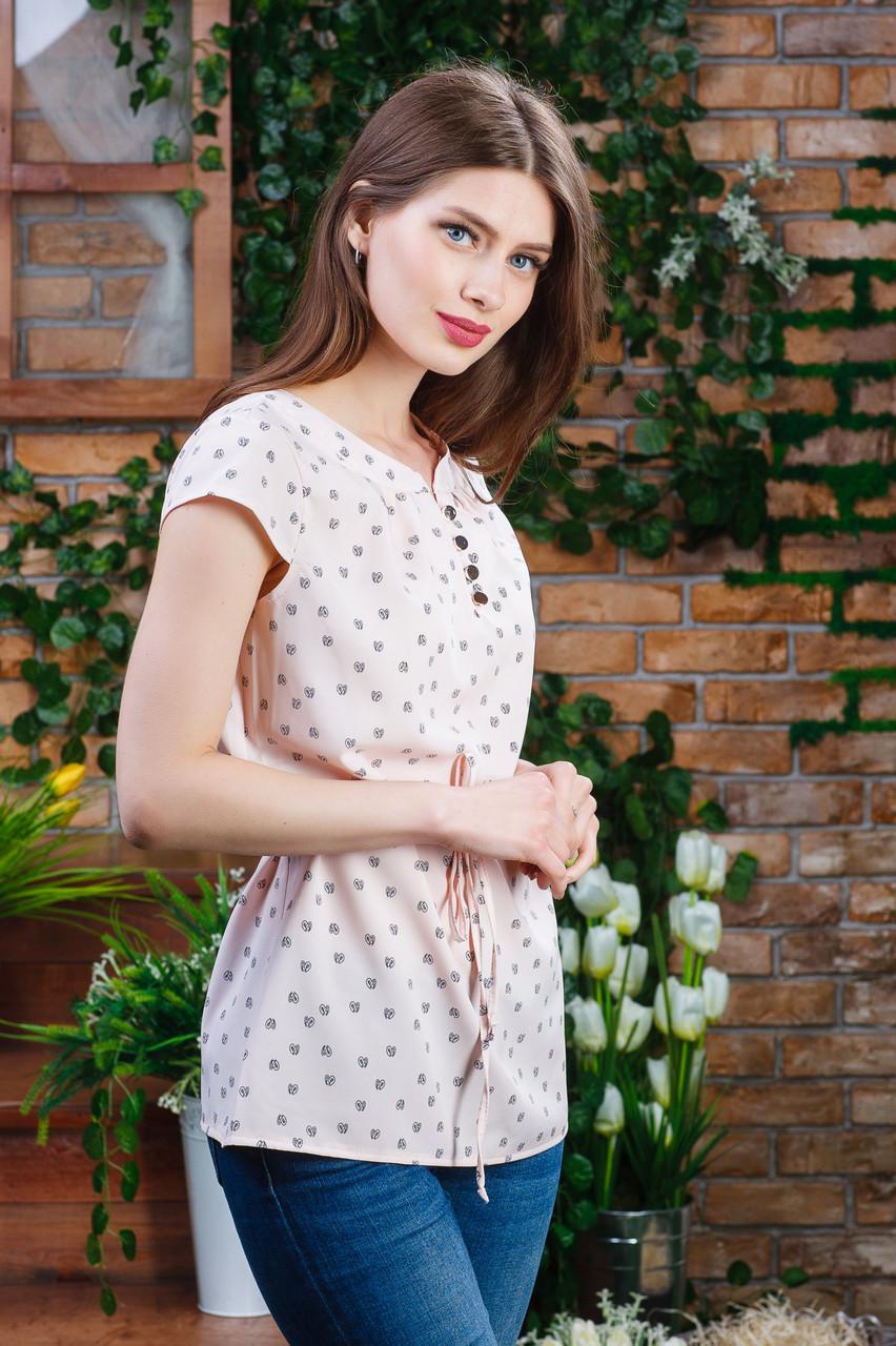 Річна блуза на гудзиках кольору, Бл - 5982