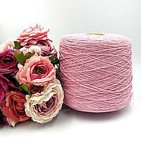Итальянская пряжа LIFE от  Loro Piana ( хлопок 100%, 420 м/100 розовый)