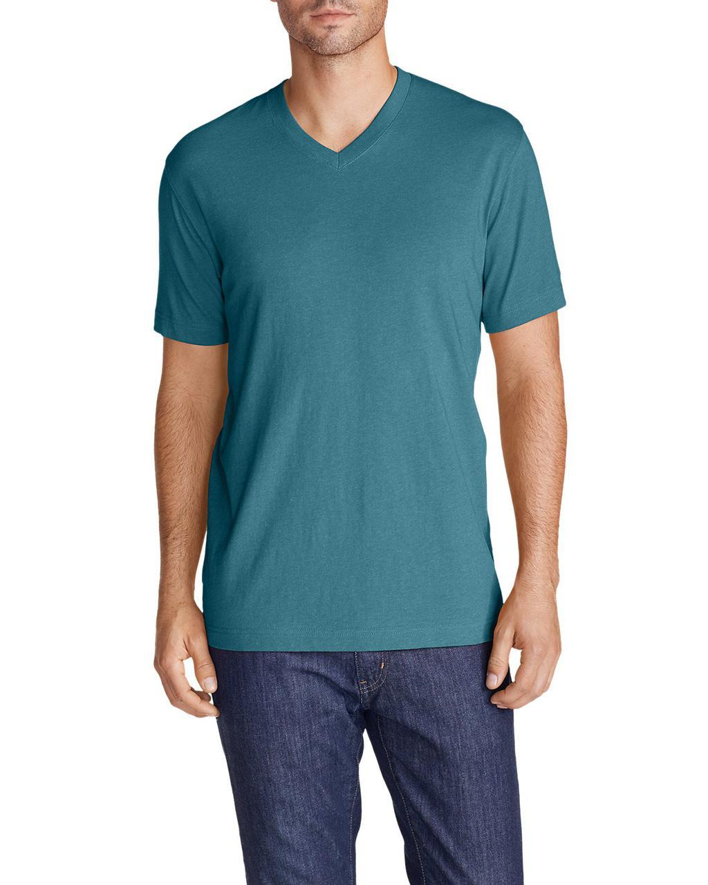 Футболка Eddie Bauer Legend Wash Short-Sleeve V-Neck T-Shirt - Classic Fit L