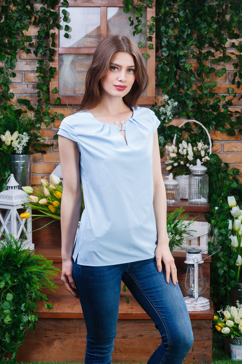 Летняя блуза голубая, Бл- 6080
