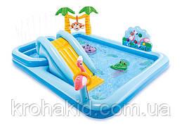 """Детский игровой центр с горкой INTEX 57161 NP  """"Приключения в джунглях"""""""
