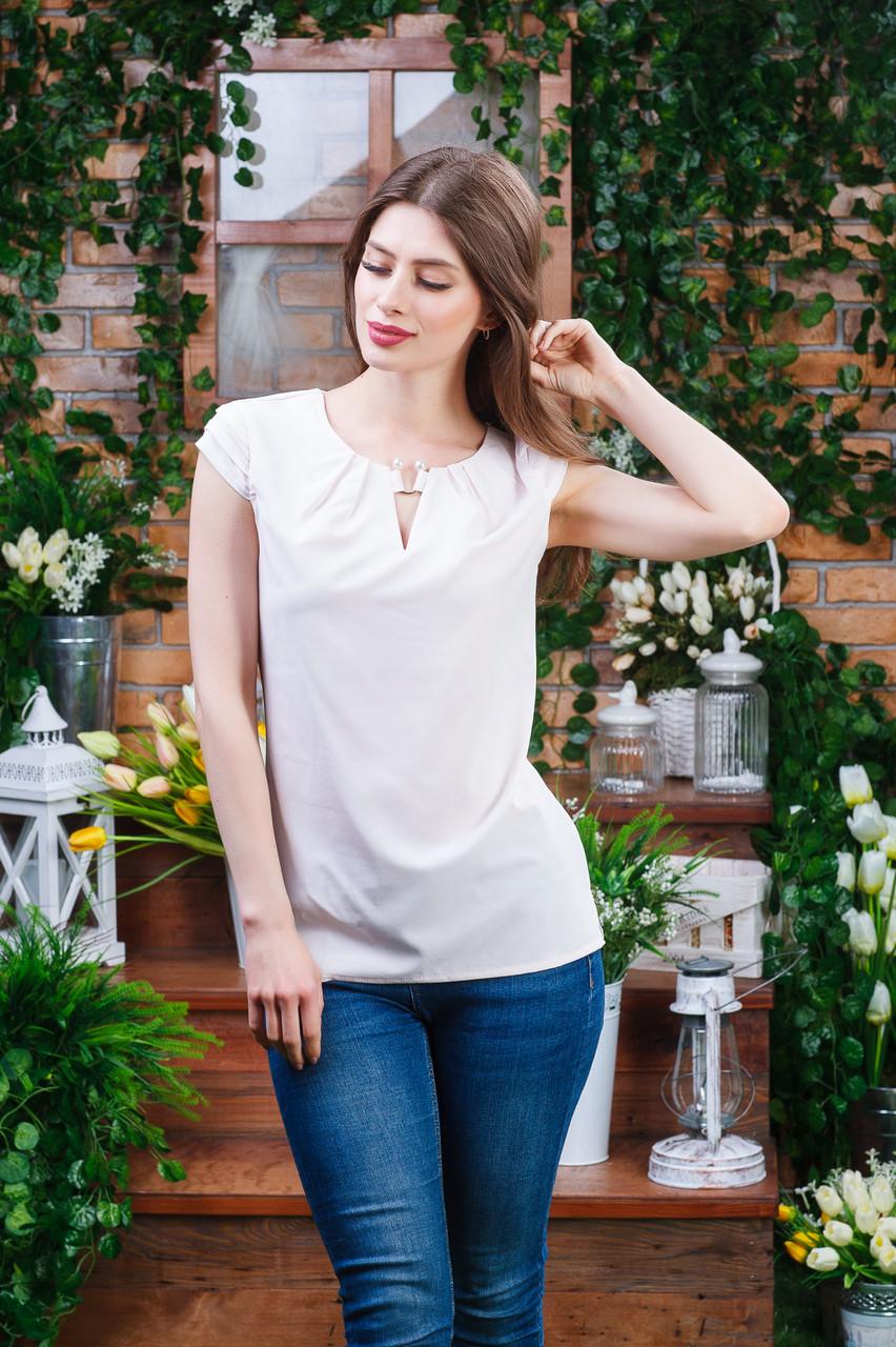 Блуза летння цвет пудра, Бл- 6081
